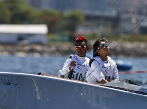 2016 Rio Paralympics - Sailing - 2-Person Keelboat (SKUD18) - Rio de Janeiro, Brazil - 12/09/2016.  Jovin Tan Wei Qiang and Yap Qian Yin of Singapore compete   TSRIO2016 REUTERS/Carlos Garcia Rawlins  NO SALES. FOR EDITORIAL USE ONLY. NOT FOR SALE FOR MARKETING OR ADVERTISING CAMPAIGNS.